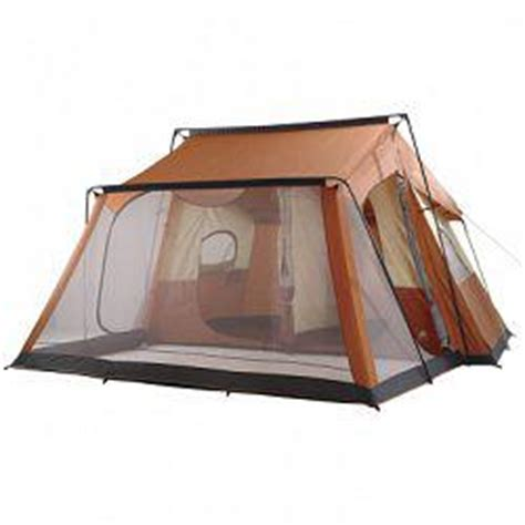 6 person tent with porch ozark trail 14x14 6 person 2 room cabin tent with screen
