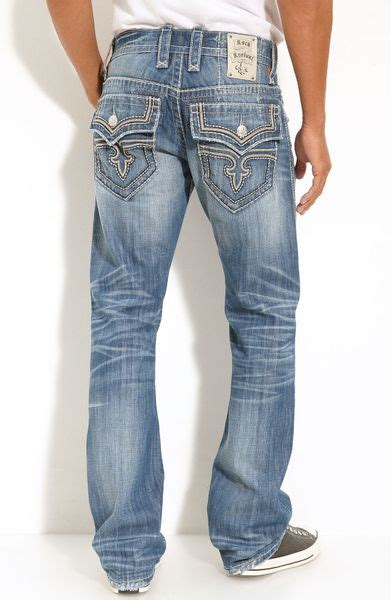 Rock Revival Wesley Straight Leg Jeans in Blue for Men (light blue) | Lyst