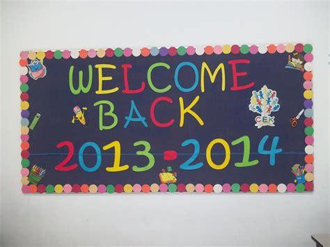 2013 Welcome Back To School Bulletin Board Idea