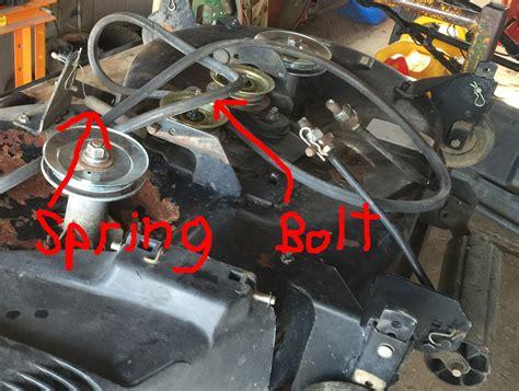 craftsman lt1000 deck belt adjustment craftsman lt1000 drive belt diagram husqvarna lgt2654