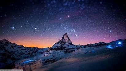 Wallpapers Landscape Computer Star Mountain Night Desktop