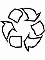 Symbol Recycle Printable Coloring Recycling Earth Superman Symbols Clip Clipart Cliparts Signs Outline Colouring Rockhound Template Symmetry Rotational Library Batman sketch template