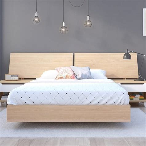 Maple Headboard by Platform Bed With Panoramic Headboard In Maple