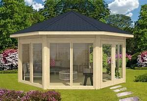 Gartenpavillon Holz Geschlossen : gartenpavillon modell r gen mit vier fenstern a z gartenhaus gmbh ~ Whattoseeinmadrid.com Haus und Dekorationen