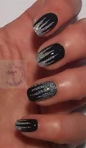 Black silver gel nail art designs ideas fabulous