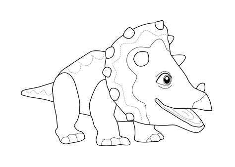 Dinosaur Coloring Page For Kids, Printable Free