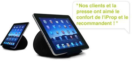 Témoignages clients et revue de presse de l'iProp (support pour tablette tactile)