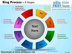 Display Pie Chart Process 8 Stages Powerpoint Diagrams And