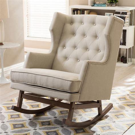 baxton studio iona mid century beige fabric upholstered