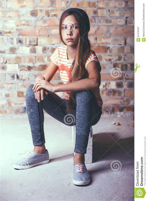 Teenage Girl Stock Image Image Of Brick Teen Fashion 61476437