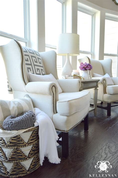 Living Room Chairs Pottery Barn by Pottery Barn Upholstered Thatcher Wingback Chairs In