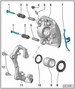Audi Workshop Manuals  U0026gt  A4 Mk3  U0026gt  Brake System  U0026gt  Brakes