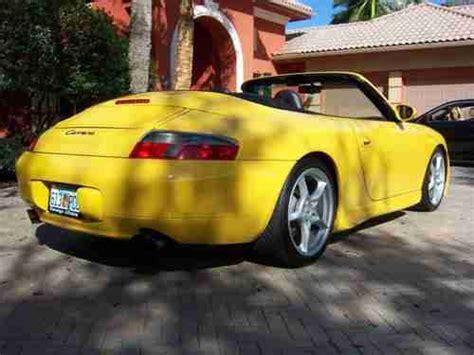 buy   porsche  carrera convertible speed yellow