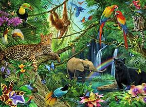 jungle jungle xxl200 children39s puzzles stuff to With good couleur peinture mur 15 paysage savane decoration pour enfant papier peint