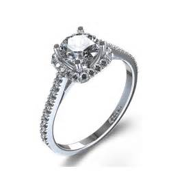 halo cut engagement rings halo style cushion cut engagement ring in 14k white gold