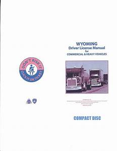 Commercial Driver Manual For Cdl Training  Wyoming  On Cd