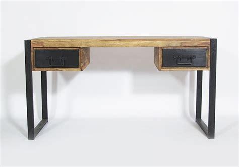 bureau industriel metal et bois bureau bois et metal bureau atelier bois et m tal 150 cm
