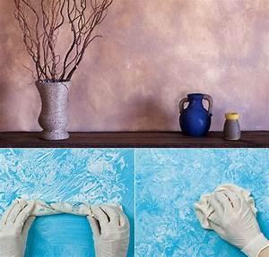 Ideen Wand Streichen : coole wand streichen ideen und techniken mit lappen f r ~ Lizthompson.info Haus und Dekorationen