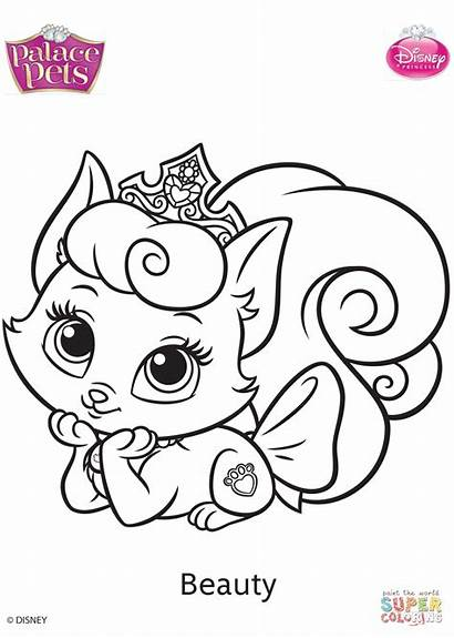 Coloring Pets Palace Pages Beauty Printable Drawing