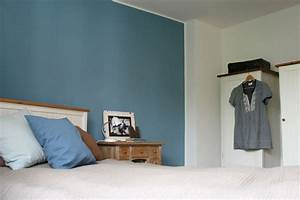 Grau Blaue Wand : cool down blaue wand im schlafzimmer fur f rgekro pinterest schlafzimmer blau ~ Watch28wear.com Haus und Dekorationen