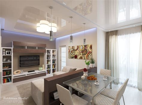 Living Room And Dining Room Combo : Professional 3d Architectural Visualization
