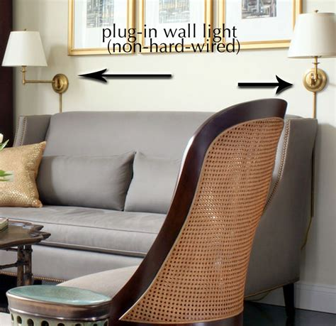 plug in wall ls for living room exle of non hardwired plug in sconces or wall lights