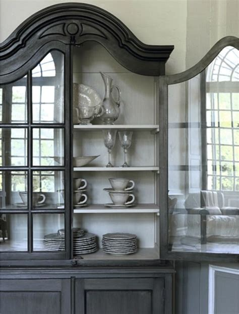 grey china cabinet what s inside the china cabinet organized styled