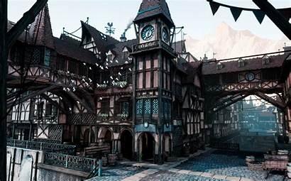 Town Medieval Artstation Ue4 Modular Magnant Grace