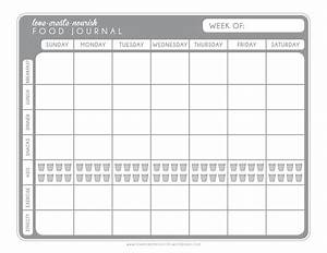 a matter of discipline free weekly food journal With food and exercise diary template