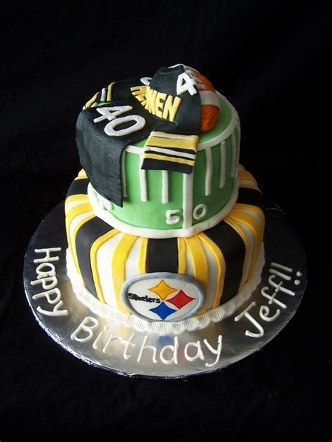 steelers birthday cake a steelers cake for a friend all sports cakes