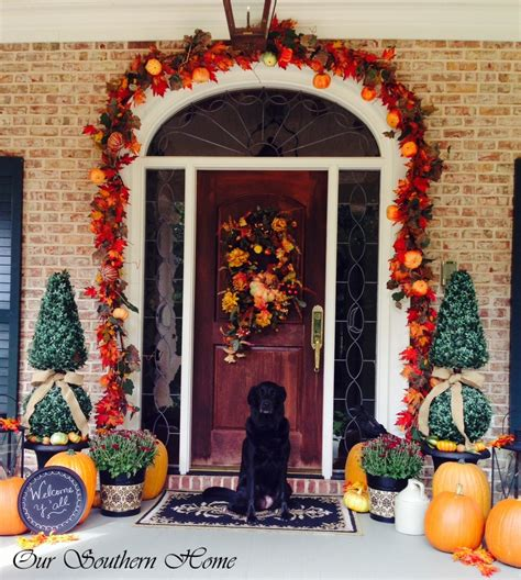 fall decorations for home gardens arranging plants patio stones furniture