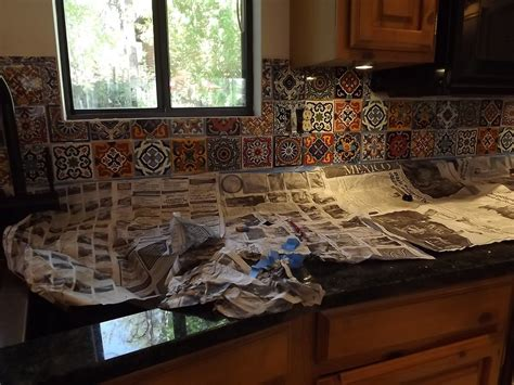 mexican tiles for kitchen backsplash mexican tile kitchen backsplash diy how to do stuff 9158