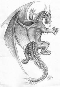 Grey animated climbing dragon tattoo design - Tattooimages.biz