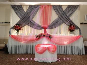coral wedding decoration joyce wedding services