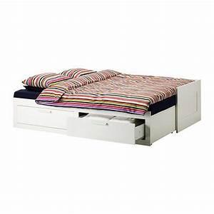 Lit Ikea Double : lit double rangement ikea ~ Teatrodelosmanantiales.com Idées de Décoration
