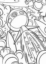 Coloring Space Outer Sheets Ship Adult Spaceship Colouring Printable Drawing Planet Cool Line Cartoon Disney Worksheets Bestcoloringpagesforkids Crafts Dover Publications sketch template