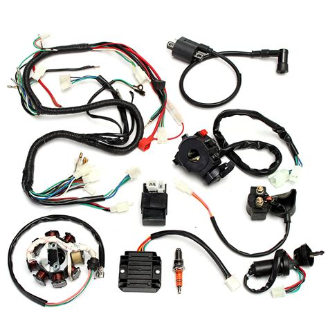 Jianshe Atv Wiring Diagram by Complete Electrics Wiring Harness For Dirt Bike