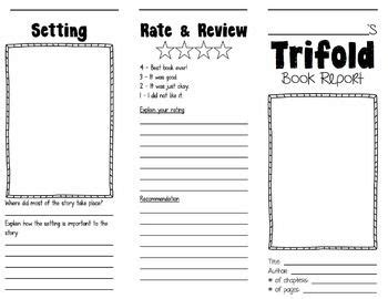 Book Report Brochure Template by Trifold Book Report Brochures Students And Books