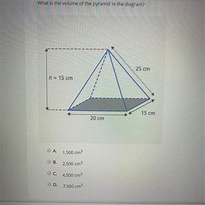 What Is The Volume Of The Pyramid In The Diagram  A 1