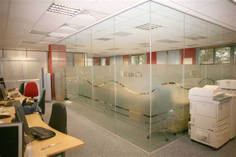 wall partitions ideas modern glass walls interior ideas small office design