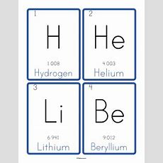 Customizable And Printable Periodic Table Of Elements Flashcards  Levi's Birthday Element