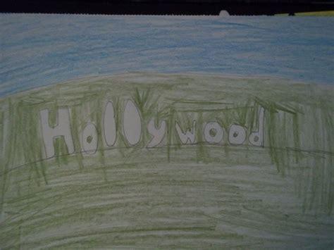 hollywood sign drawing  drawing drawing  cut