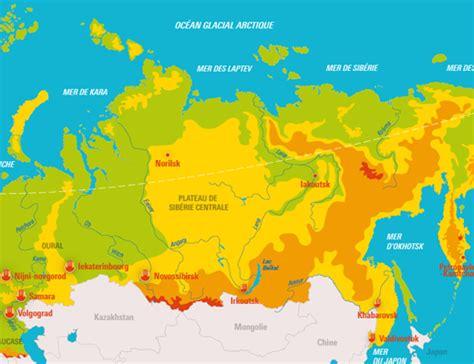 Carte Interactive Des Montagnes De by La Russie Relief Et Ses Grandes Villes Cartes