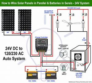 How To Wire Solar Panels In Parallel  U0026 Batteries In Series