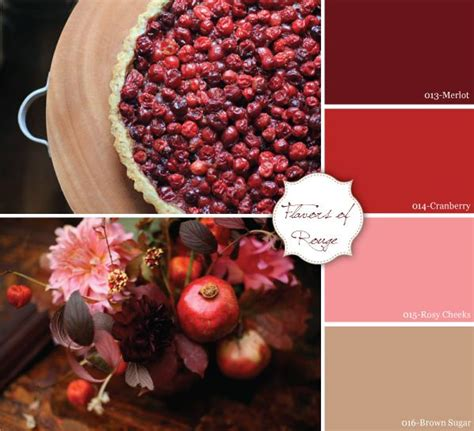 pomegranate color merlot cranberry brown sugar color