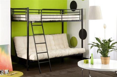 lit superpos avec canap lit superpose avec banquette canapé idées de