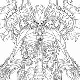 Diablo Coloring Games Drawing Printable Drawings sketch template
