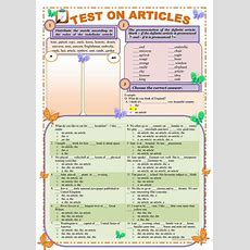 Test On Articles Definite And Indefinite (editable And With Keys) Worksheet  Free Esl