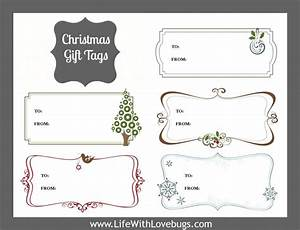 christmas gift tags printable life with lovebugs With how to print on gift tags