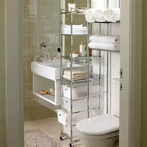 Storage solutions for a small bathroom for Portable bathrooms for small spaces